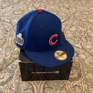 NWT New Era Chicago Cubs 2016 World Series 7 3/8